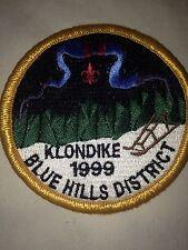 New Boy Scout Patch 1999 Klondike Blue Hills District