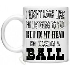 Football Funny Novelty In my Head Soccer FA League Gifts For Men Dads Mug Cup