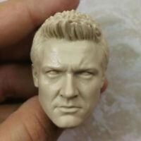 Blank Hot 1/6 Scale Avengers 2 Hawkeye Jeremy Renner Head Sculpt Unpainted