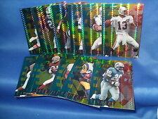 1995 COLLECTORS EDGE FOOTBALL - EXCALIBUR TEKTECH COMPLETE SET (12) NFL CARDS