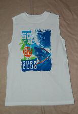 Boys MUSCLE Tee Shirt SO CAL SURF CLUB Surfboard WHITE XL 14-16
