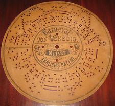 "Disco Di Cartone "" CARNEVAL-VON VENEDIG N° 1582 "" Per Organetto A Manovella"