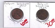 From Show Inv. - 2 NICE OLDER 2 CENTIME COINS from BELGIUM (1909 & 1910)