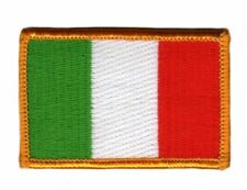 ITALY ITALIA FLAG PATCH BADGE IRON ON NEW EMBROIDERED