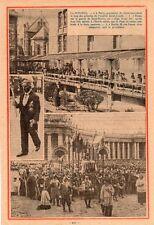FETE DIEU VON PAPEN ROME VATICAN PAPE PARIS HOPITAL ST JOSEPH IMAGE 1933 PRINT