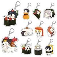 1Pcs Japanese Anime Haikyuu!! Character Transparent Acrylic Key Ring Keychain