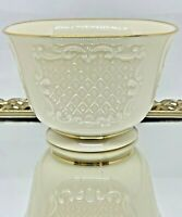 "Lenox China Canterbury Collection 4.25"" Treat Bowl, Gold Trim"