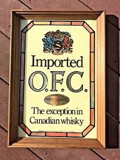 New listing Vintage Schenley Imported O.F.C. Canadian Whiskey Sign Mirror Man Cave Bar Pub