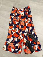 ladies New With Tags Trousers Size 16 Summer Holiday Occasion Coral Red Mix