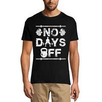 ULTRABASIC Homme T-shirt No Days Off - Pas de jours de congés T-Shirt de fitness