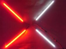 """RC LED Strip Plug and play Kit 8"""" Red and White  96 LED's 9-15v"""