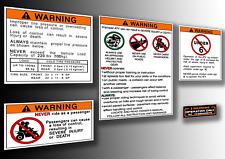 Honda ATC 110 125 Stickers Warning Advice Health Safety Vintage Trike Sticker