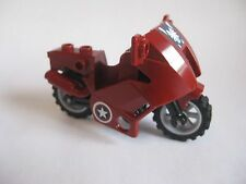 Lego MOTORCYCLE for Minifigures to Ride - Dark Red CAPTAIN AMERICA 6865