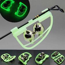 2X Glow Night Fishing Accessory Rod Tip fish bite alarm Alert Clip Bells Tool