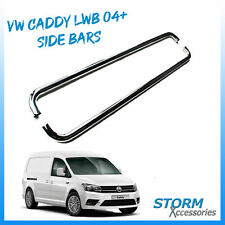 OEM STAINLESS STEEL SIDE BARS - SIDE STEPS FOR LWB VW CADDY MAXI 2004 ONWARD