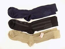 Perry Ellis $34 Brown 3-PAIRS SHOE SZ 7-12 MEN Dress Crew SOCKS BLACK BLUE  C20
