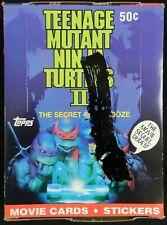 Teenage Mutant Ninja Turtles TMNT 2 Secret of the Ooze Card Box - 36 Wax Packs