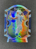 2020 Select JUSTIN HERBERT LIGHT BLUE PRIZM SSP #44 RC Die-Cut Hanger Exclusive