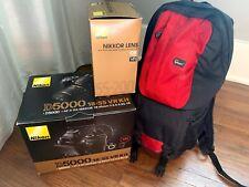 Nikon D5000 Digital SLR Camera with 18-55mm VR Lens + Nikon 55-200MM Lens + Bag