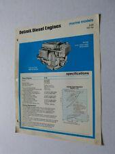 Prospetto Motore: Detroit Motori Diesel Marina Models Tipo 3-53 101 HP