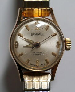 Vintage ROAMER 17 Jewels Incabloc Swiss Made Ladies Mechanical Watch