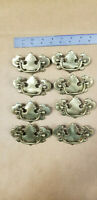 "Lot (8) VTG 1.75"" CTC Drawer Pulls Antique Brass Finish Chippendale B-533-0"