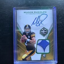 Mason Rudolph 2018 Panini Limited RPA 4/5 Emerald Green Patch Auto Rookie