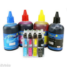 Refillable Cartridge Kit and Ink Set for Brother LC203 LC205 MFC-J4620DW J5520DW