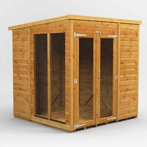 Power Pent Summerhouse l Power Sheds l Summerhouse Size 6x6, 8x6, 10x6, 12x6