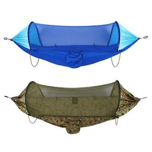 Portable Hammock Outdoor Courtyard Camping Automatic Quick Opening Mosquito Net