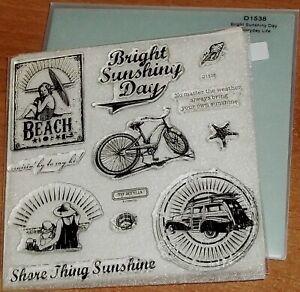 CTMH D1538 BRIGHT SUNSHINY DAY ~cruisin' by to say hi,BEACH,Shore thing Sunshine