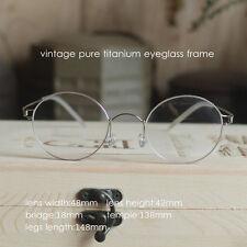 Titanium Round Steve Jobs Glasses mens HARRY POTTER Eyeglasses Frame Spectacles