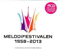4 CD Box Melodifestivalen 1958-2013 Eurovision Schweden, Abba, Saade, Loreen....