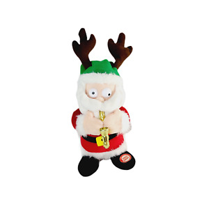 Silly Saxophone Playing Santa Plush Animated Music Dances Christmas Holiday