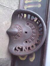 More details for nicholsons newark   vintage unpainted  cast  iron  tractor  implement  seat