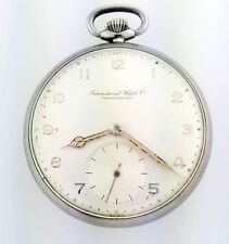 Antique International Watch Co IWC Schaffhausen Cal 67 48mm Steel Pocket Watch