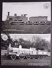Old Railway Trains Postcards x 2,  Unposted, by L and N.W.R. Revised Series 1904