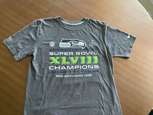 Nike Seattle Seahawks Super Bowl Champions Shirt Size Medium XLVIII Grey