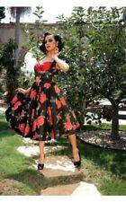 Laura Byrnes XXL Grace Dress VLV Spanish Rose Pinup Girl Swing