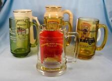 Lot Of 7 Firehouse Fire Company Mugs Glass & Pottery With Pin Vintage Engine (O)