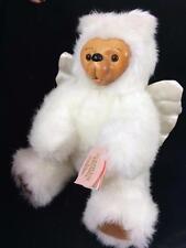 Robert Raikes Cupid Angel Wood Face Signed Teddy Bear Orig Tag 1990 Handcrafted