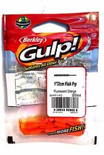 "Berkley Gulp  1""/ 2cm Fluorescent Orange Fish Fry"