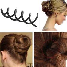 WOMEN Spiral Spin Screw Bobby Pin Hair Clip Twist Barrette Black 10pcs/set HS0