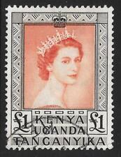 K.U.T. 1954-59 £1 Brown-Red & Black SG 180 (Fine Used)