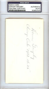 Denver Grigsby Authentic Autographed Signed 3x5 Index Card Chicago Cubs 83862559