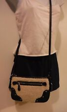 Coach Small Rhyder Leather and Shearling Pochette/Cross body -BLACK- So Cute!