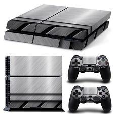 Sony PS4 Playstation 4 Skin Design Aufkleber Schutzfolie Set - Stainless Steel
