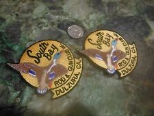 DULZURA SOUTH BAY ROD & GUN HUNTING CLUB EMBROIDERED DUCK PATCHES NOS (2 MED)