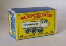 Repro box Matchbox 1:75 nº 61 Alvis Stalwart nuevos