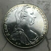 1780 Maria Theresa Thaler Restrike - Silver Uncirculated